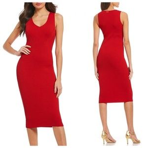 NWT Michael Kors Red Sparkle Knit Midi Dress